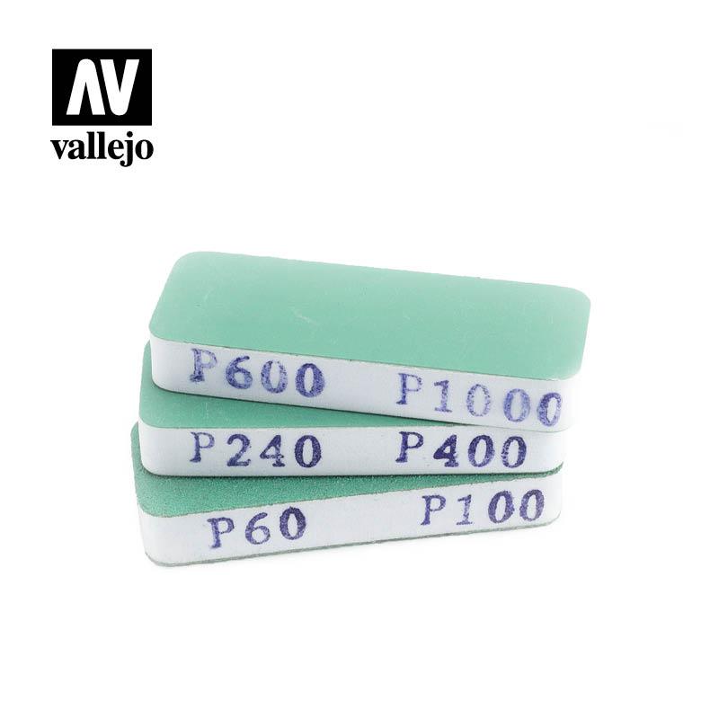 vallejo-hobby-tools-set-of-3-flexi-sanders-dual-grit-80x30x12mm-T04004
