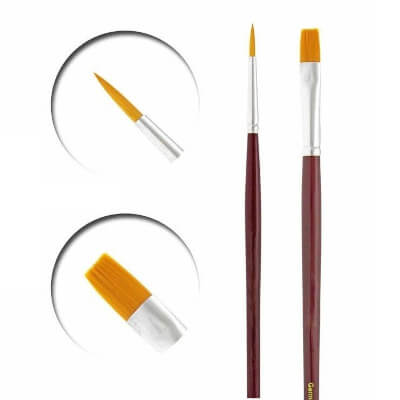 vallejo miniature paint brushes